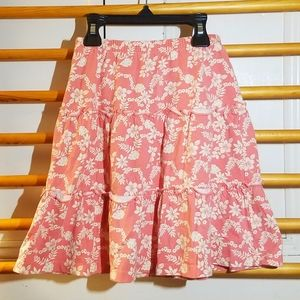 Gymboree Coral Topical Tiered Skirt 4 5 6 Hula Lei